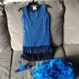 Little girls flapper costume sz s-m 5-6